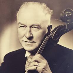 Arthur Roose with his cello in 1950