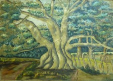 Henry Daley - Cotton Tree, 1944 (Collection: National Gallery of Jamaica)
