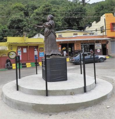 Basil Watson - statue of Miss Lou (2018, Gordon Town)