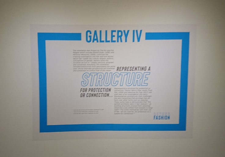 Text panel - gallery IV