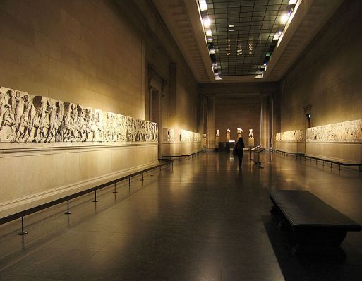 The Parthenon Frieze at the British Museum (photo source: Wikipedia)