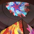 David Gumbs' Xing Wang interactive video installation, Jamaica Biennial 2017, National Gallery West