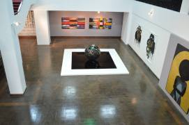 Installation view of the central gallery during Jamaica Biennial 2014, with work by Charles Campbell, Rex Dixon, Shoshanna Weinberger, and Kimani Beckford
