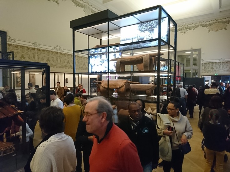 crowded museum