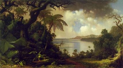 Martin Johnson Heade _ View from Fern Tree Walk, Jamaica (1870)