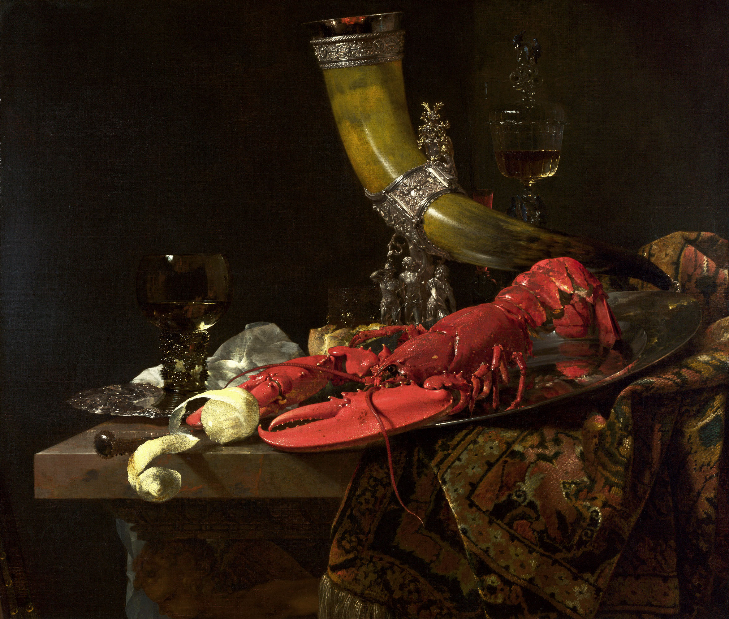 Willem_Kalf_Still_Life_with_Drinking-Horn_c._1653_oil_on_canvas_National_Gallery-UK-fisheries